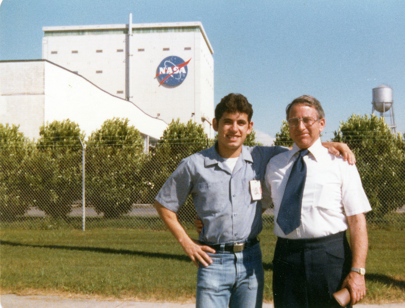 JW Najarian with Emil Pardee at Michoud NASA facility