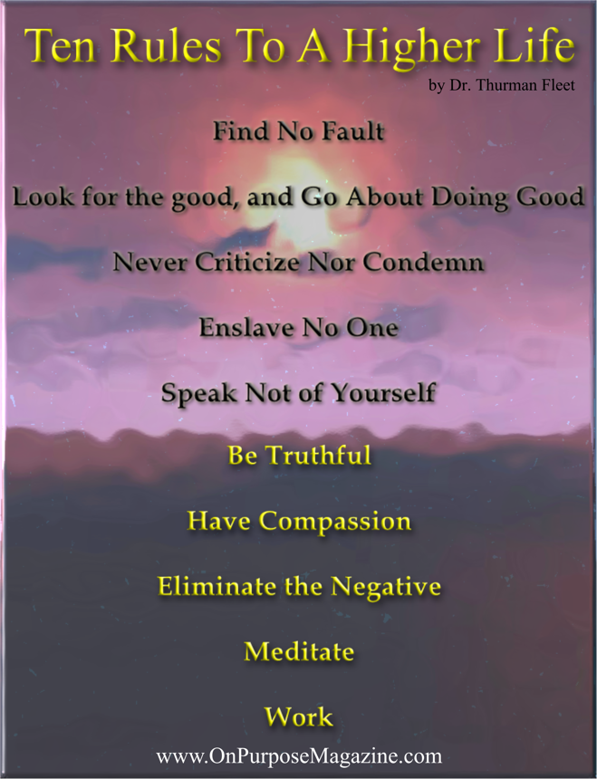 Ten Rules to a Higher Life