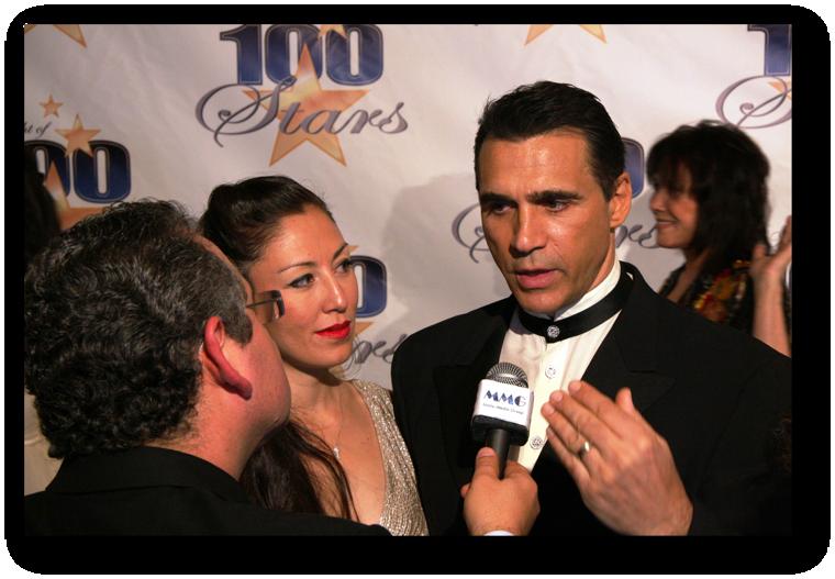 Adrian Paul with Wife and JW Najarian On Purpose Magazine