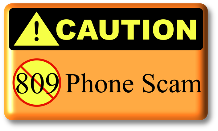 Graphic Caution Phone Scam