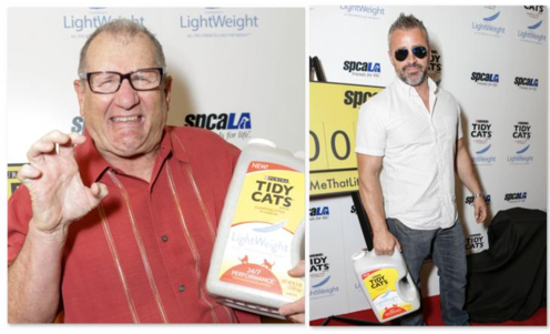 Purina tidy cat lightweight Ed O'Neil and Matt LeBlanc at GBK for SPCALA